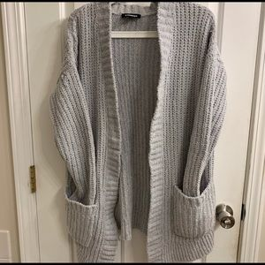 EXPRESS fluffy gray sweater